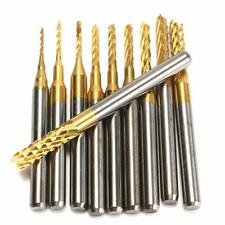 10X 1/8'' 0.8-3.175mm PCB Drill Bit Engraving Cutter Rotary CNC Bit End Mill DB