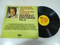 "MANOLO ESCOBAR Liederbuch Español exitos Belter 1976 - LP vinyl 12 "" VG/VG - 2T"