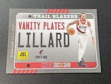 2020-21 Panini NBA Hoops Damien Lillard Vanity Plates # 12 Portland