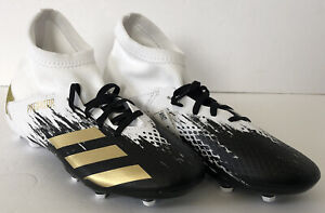 Adidas PREDATOR 20.3 FG J Soccer Cleats  Size 6 White Black Gold (FW9215)