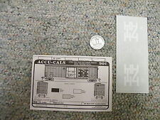 Accu-cals  decals HO H4-B40b New Haven 50' box car cushioned J113