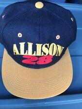 Vintage Snapback Hat Young An  Racing Team Texaco Racing Team Allison #28