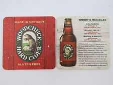 Beer Coaster ~ WOODCHUCK Hard Apple Gluten Free CIDER  ~ Make Mixables ~ VERMONT
