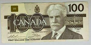 Canada 1988 $100 Dollar Banknote BJC9444867