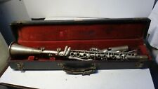 VINTAGE HOLTON  METAL CLARINET IN CASE BRILHART SPECIAL MOUTHPIECE L@@K