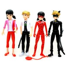 4Pcs/set Miraculous Ladybug and Adrien Noir Cat Character Doll Action Figure Toy