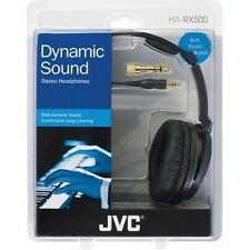 JVC HA-RX500 High Quality Full Size Headphones Silver HARX500