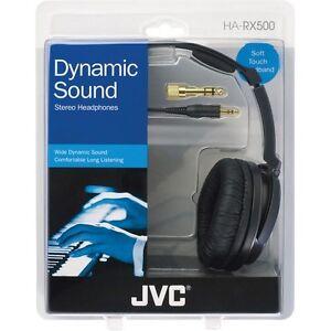 JVC HA-RX500 High Quality Full Size Headphones Silver HARX500