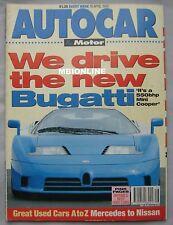 Autocar maagzine 15/4/1992 Bugatti EB110, Porsche 928 GTS, Mitsubishi Colt GTi