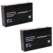 2x Blei-Gel Akku MP 6V 7Ah f. Acculux Joblux DJW6-7.2 Batterie Accu 6 Volt 7.2Ah