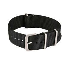 Bracelet Montre Nato (Nylon) Black / Noir 22mm
