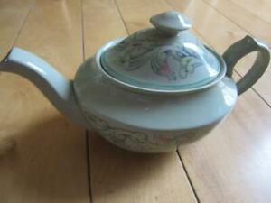 VTG 50s SPODE FLEMISH GREEN SCROLL SMALL TEAPOT 1 1/2 CUPS SO CUTE