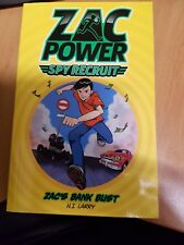 ZAC POWER SPY RECRUIT Zac's Bank Bust Excellent condition Paperback