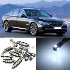 Error Free White 15pcs Interior LED Light Kit for 2009-2011 BMW 7 Series F01 F02