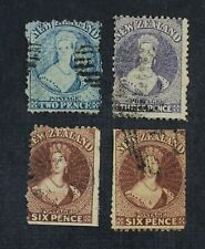 Ckstamps: Gb Stamps Collection New Zealand Scott#32 33 36 Used #36 1Pinhole