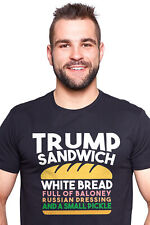 Trump Sandwich Presidential Election Funny Political Black T-shirt Republicans