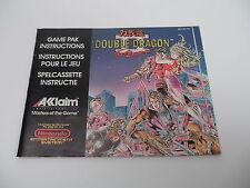 Double Dragon II The Revenge (FRA) Nintendo NES Manual only