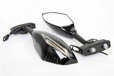 LED Turn Signals Integrated Mirror HONDA CBR 900 929 954 1000 RR F2 F3 Gloss bkc