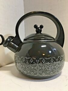BLACK MICKEY MOUSE TEA KETTLE, AUTHENTIC ORIGINAL DISNEY PARKS, FREE SHIPPING
