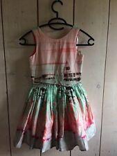 Jottum SEBERG multicolor flamingo dress size 116 / 6 yrs NWT