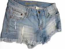 Junior's Blue Asphalt Denim Jean Short Shorts ~ Size 7 ~ Blue ~ Distressed