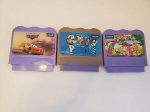 Vtech Vsmile Games Lot of 3, Alphabet Park Adventure, Toy Story 2, Cars Pixar