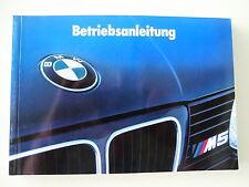 BMW Betriebsanleitung  Deutschland  ///M5 E34 Tour  Modelljahr 1992  01409786460