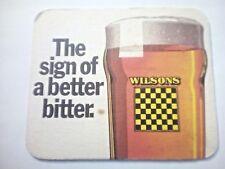Vintage WILSONS - WILSONS BREWERY Newton Heath  - Cat No'72  - Beermat / Coaster
