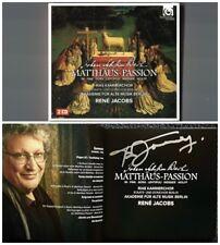 Rene JACOBS Signiert BACH St. Matthew Matthäus-Passion 2CD Güra Weisser Lehtipuu