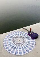 Bohemian Mandala Round Beach Throw Hippie Tapestry Yoga Mat Large Indian Roundie