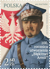 POLEN 2017 Stamp 100th anniversary of the creation of The Blue Army(2017; Nr kat