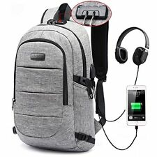 Laptop Backpack Business USB Charging Port for College Student 17 Inch Notebook