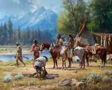 Martin Grelle Snake River Culture Signed Numbered Giclee on Canvas