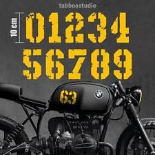 Pegatinas moto cafe racer numeros adhesivos casco bmw yamaha honda vinilo