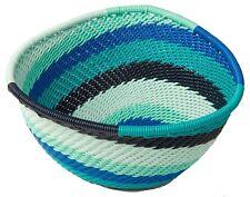 South African Telephone Wire Basket Fair Trade Handmade Crossroads Eco Repurpose