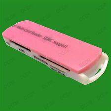Pink Multi Slot USB Memory Card Reader, Mini Micro SD MMC T-Flash MS PC & MAC