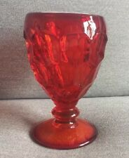 Vintage Fostoria Ruby Red Glass Thumbprint Goblet