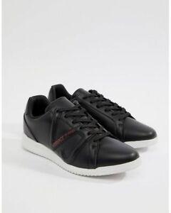 Versace Jeans VJ Logo Runner Trainers In Black Size UK8