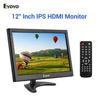 "12"" HDMI TV Monitor 1366x768 TV/HDMI/VGA/AV/USB Input for PC Security Camera DVR"