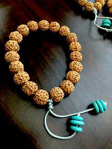 Rudraksha Bracelet 13×12mm 金刚菩提手串 小盘龙纹单圈 深度清理