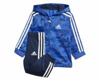 Adidas infants EX SHINY FULL ZIP HOODED TRACK SUIT CF7394