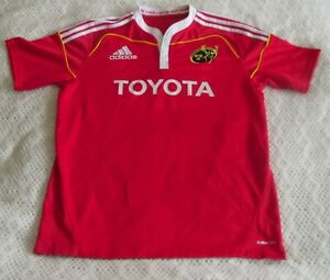 Munster 2009-11 Home Adidas Toyota Rugby Union Shirt Jersey Size UK L