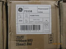 GE Box of 25 36w Daylight 865 4ft Fluorescent tubes T8