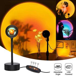 Sunset Lamp Sunset Projection Lamp LED Light Night Light USB 180 Rotation