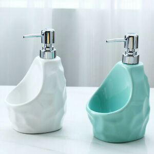 Ceramic Liquid Dispenser Soap Holder Bathroom Fashion with Sponge for Kitchen