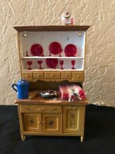 VINTAGE MINIATURE DOLL HOUSE DOLLHOUSE HUTCH HOOSIER CABINET