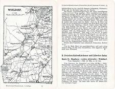 Wohldorf Alster Ohlsdorf 1904 orig. Wander-Karte + Reiseführer (4 S) Sasel Berne