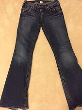 Preowned Silver Aiko Jeans Western Glove Works Size 26 x 31