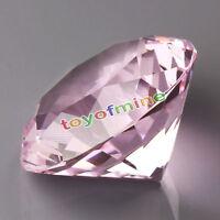 30mm Pink Crystal Diamond Shape Paperweight Gem Display Ornament