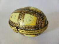 Dianti Gilded Egg Trinket Box, Designer Vintage Porcelain, Luxury Ring Box